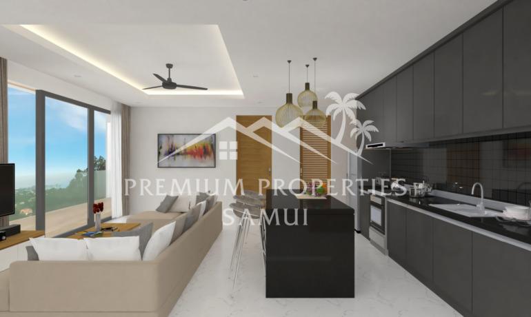 Emerald Bayview Appartements 2 Chambres Vue Mer & Piscine Privée à Lamai