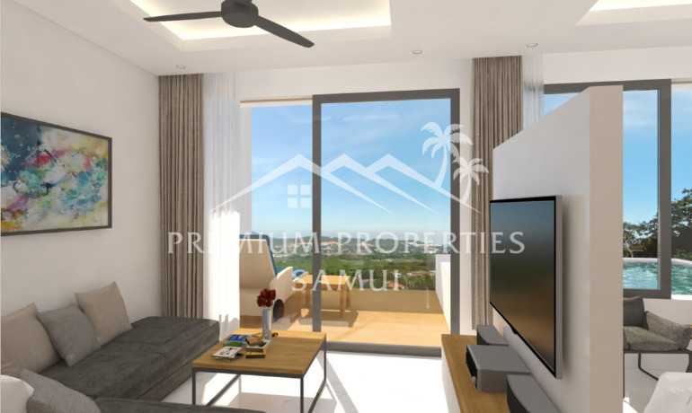 Emerald Bayview Appartements 1 Chambre Vue Mer & Piscine Privée à Lamai