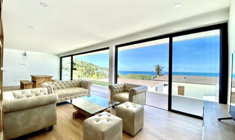 Nouvelle Villa 3 Chambres Piscine & Vue Mer à Lamai