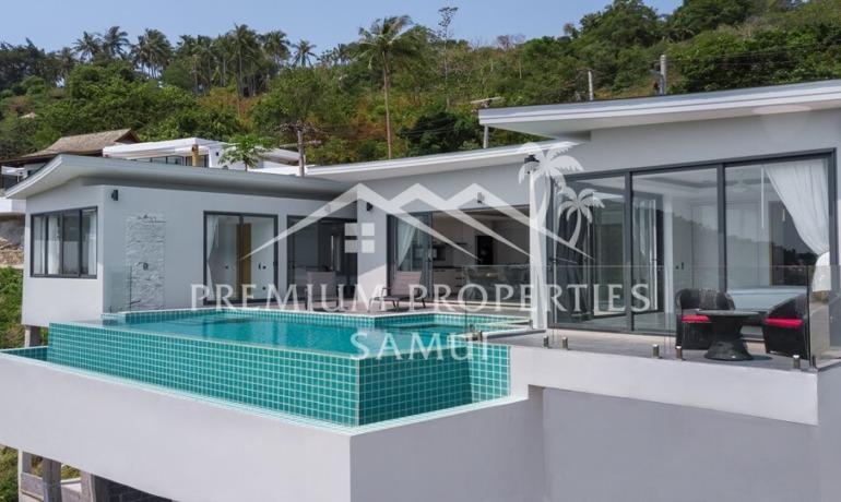 Villa Moderne 3 Chambres Piscine Vue Mer à Chaweng Noi