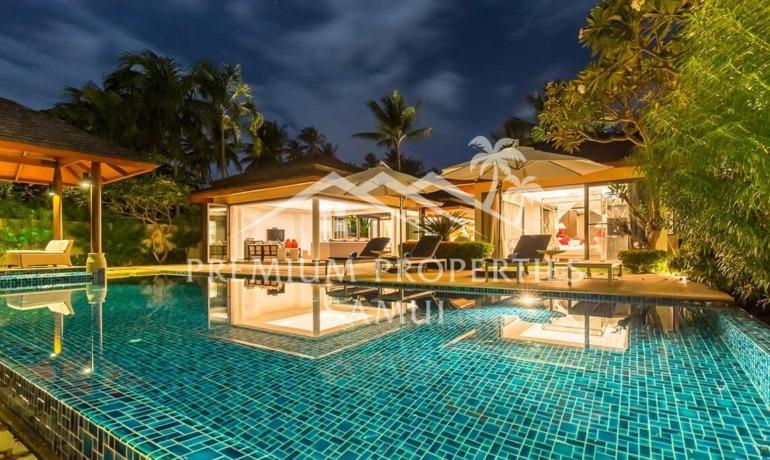 Baan Ban Buri Villas 4 chambres en bord de mer à Maenam