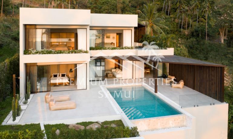 Luxueuse Villa Eco-Style avec 3 Chambres Piscine et Vue Mer à Chaweng